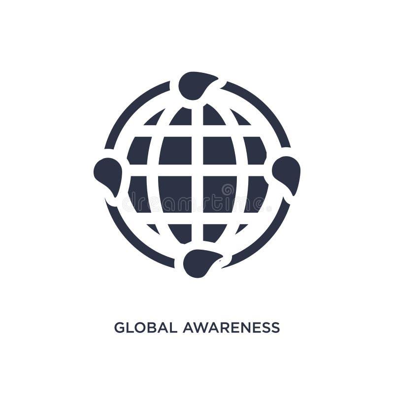 globaal voorlichtingspictogram op witte achtergrond Eenvoudige elementenillustratie van ecologieconcept stock illustratie