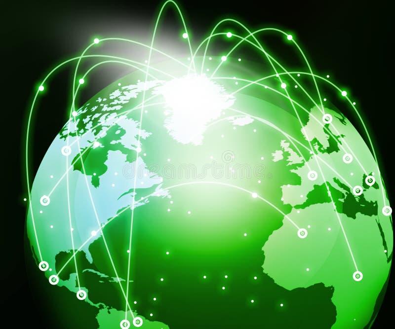 Globaal Voorzien van een netwerk stock illustratie