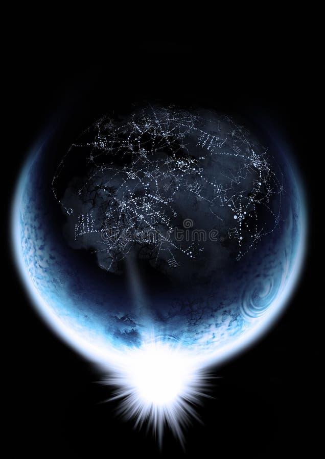 Globaal Voorzien van een netwerk royalty-vrije illustratie