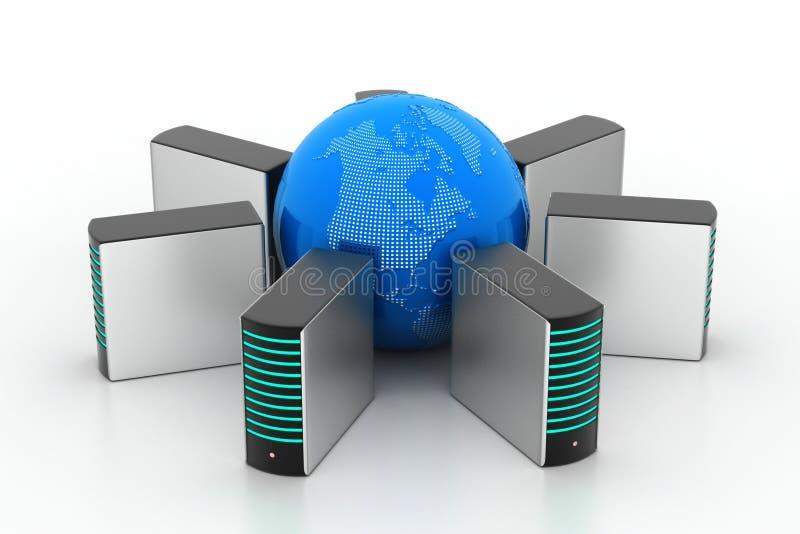 Globaal voorzien van een netwerkconcept vector illustratie