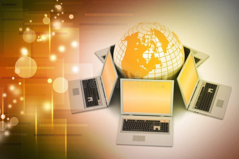 Globaal voorzien van een netwerksysteem royalty-vrije illustratie