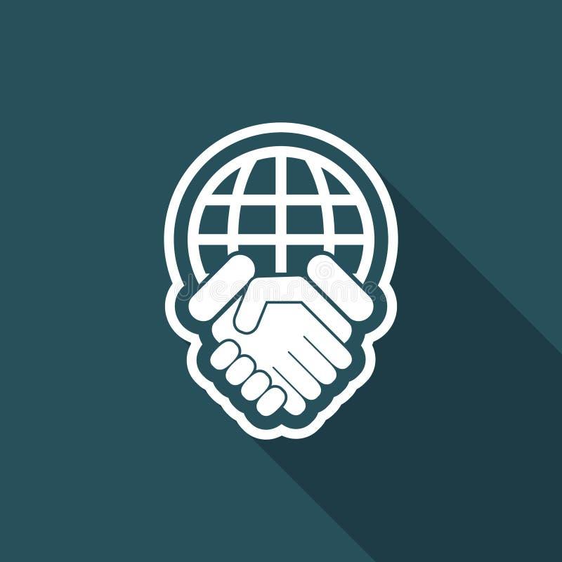 global överenskommelse stock illustrationer
