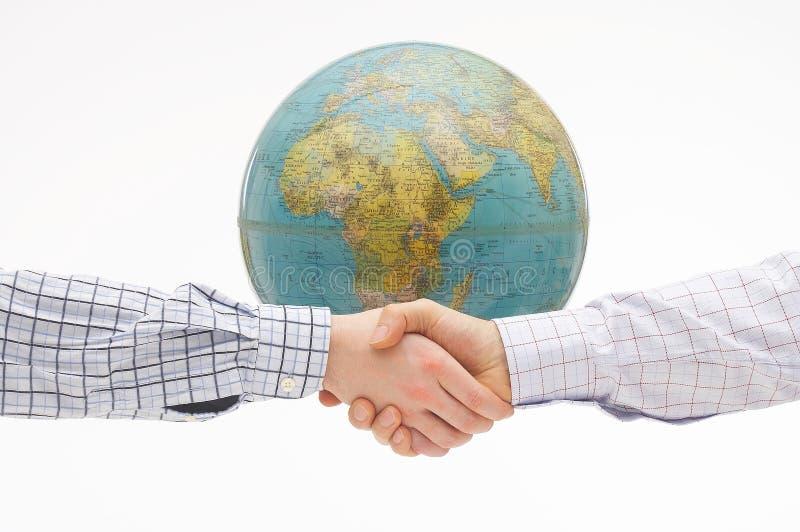 global överenskommelse arkivbild