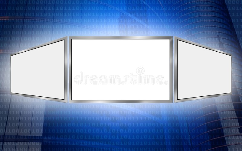 Global 3d screen copy space tech concept royalty free illustration