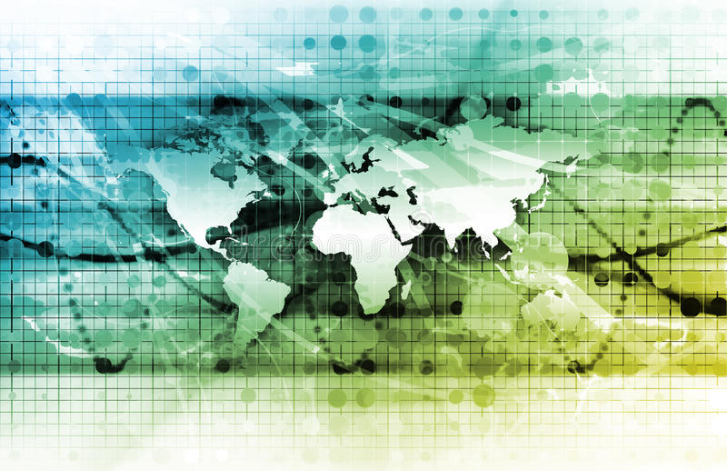 global administration stock illustrationer