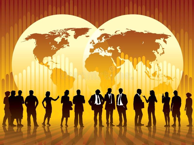 global affär stock illustrationer