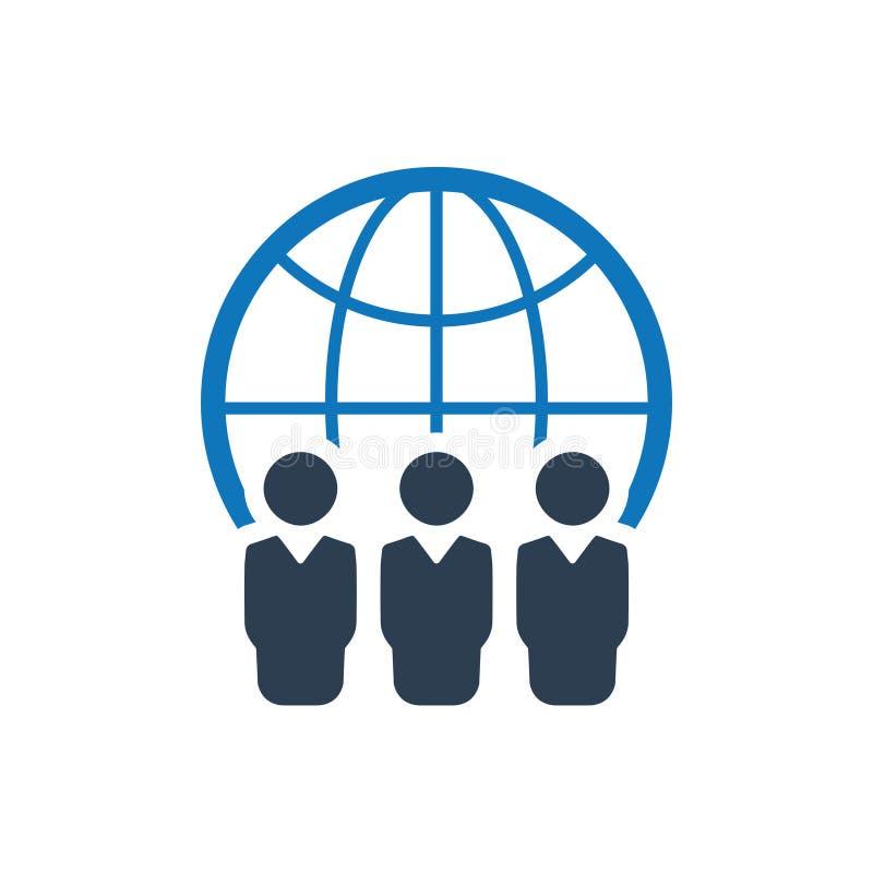 Global affär Team Icon royaltyfri illustrationer