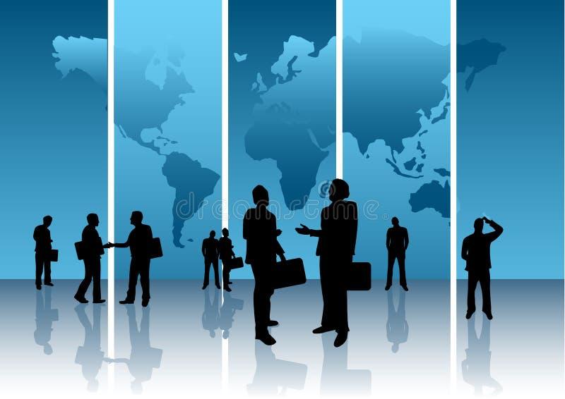 global affärsidé stock illustrationer