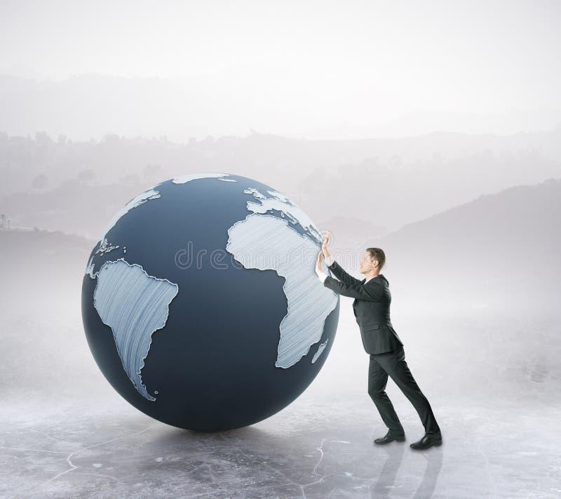 global affärsidé vektor illustrationer