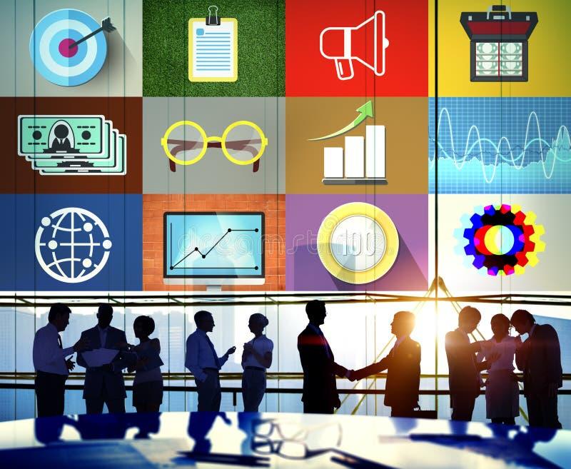 Global affärsidé för finansredovisningsinvestering arkivbilder