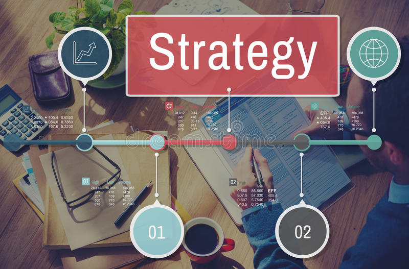 Global affärsidé för strategiprocessinvestering vektor illustrationer