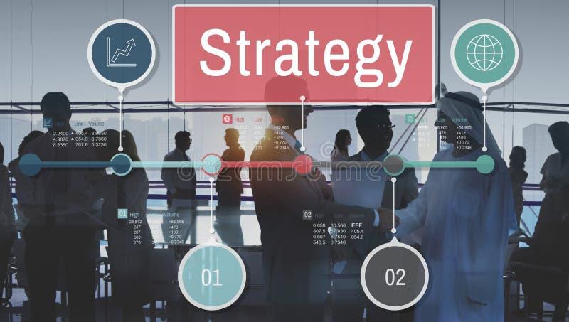 Global affärsidé för strategiprocessinvestering royaltyfria bilder