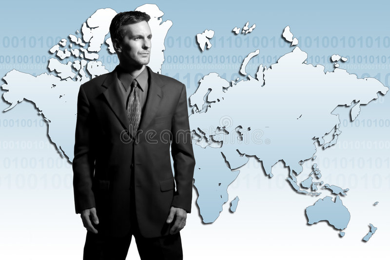 global affärsman arkivbild