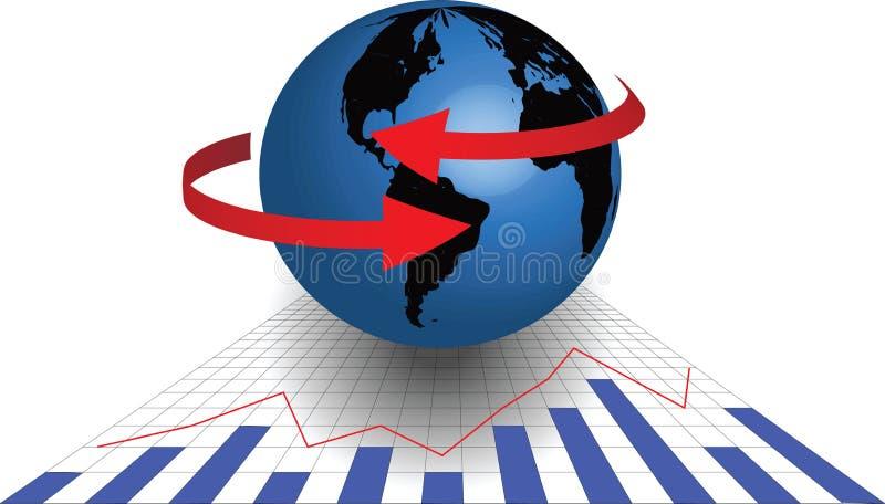 Global aktiemarknad och handel royaltyfri illustrationer