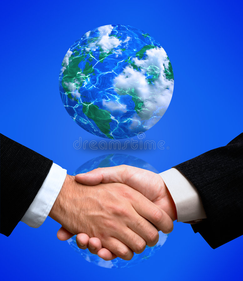 Global alliance. World agreement(made from my images stock image
