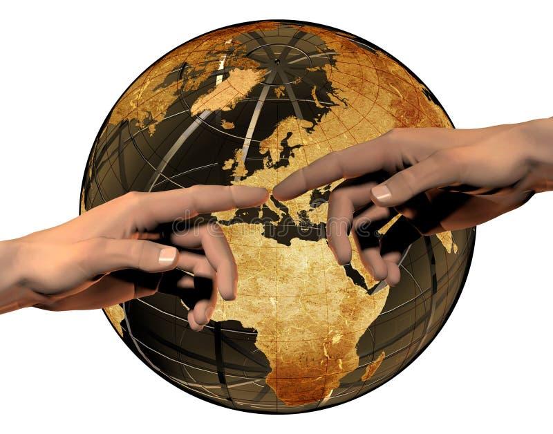global anslutning vektor illustrationer
