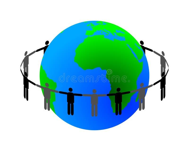 global anslutning royaltyfri illustrationer