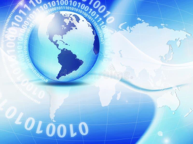 global anslutning stock illustrationer