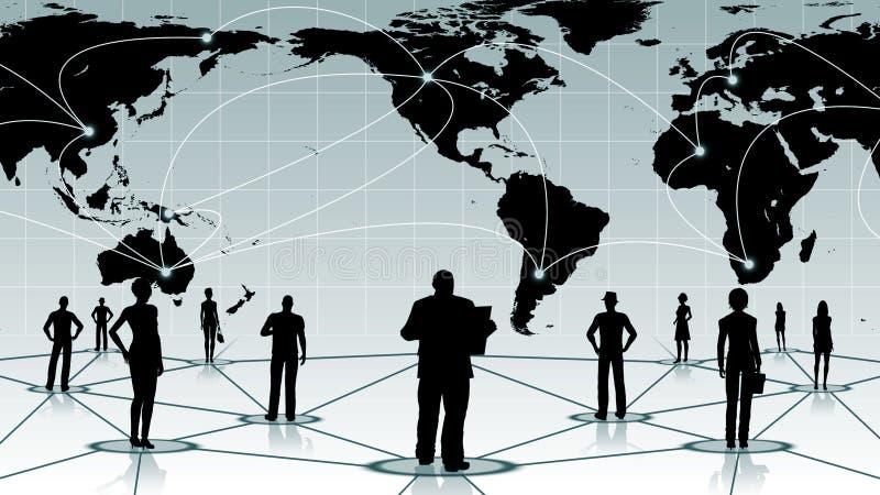 Download Global Anslutning Av Det Sociala Affärsnätverket För Folk Stock Illustrationer - Illustration av grupp, purpurt: 78732278