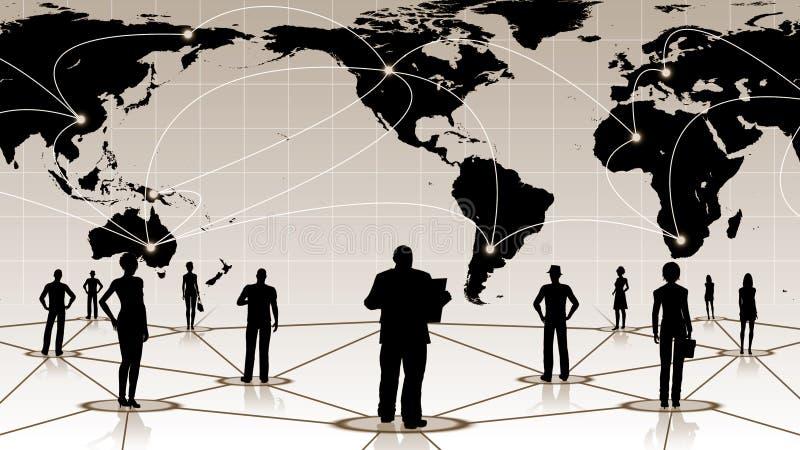 Download Global Anslutning Av Det Sociala Affärsnätverket För Folk Stock Illustrationer - Illustration av partnerskap, anslutning: 78732324