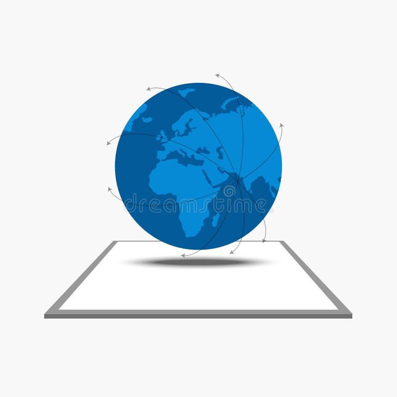 Global anslutning från minnestavlan vektor illustrationer