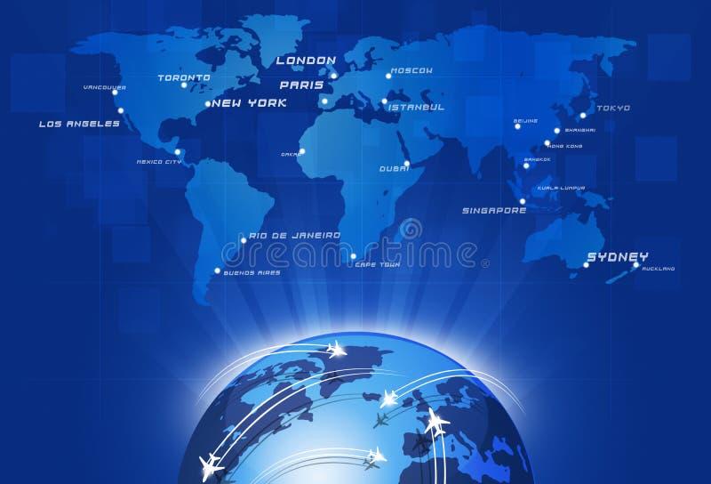 Global Aviation ilustração royalty free
