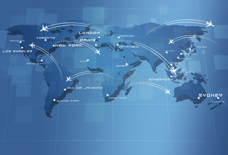 Global Aviation traza stock de ilustración