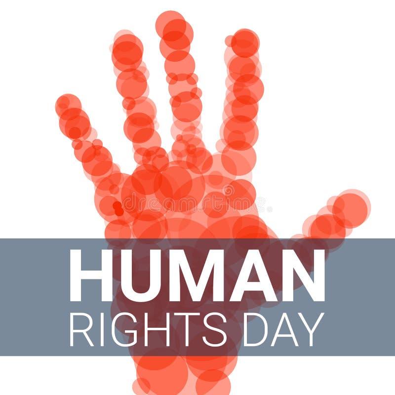 Global bakgrund för mänsklig rättighetdagbegrepp, tecknad filmstil royaltyfri illustrationer