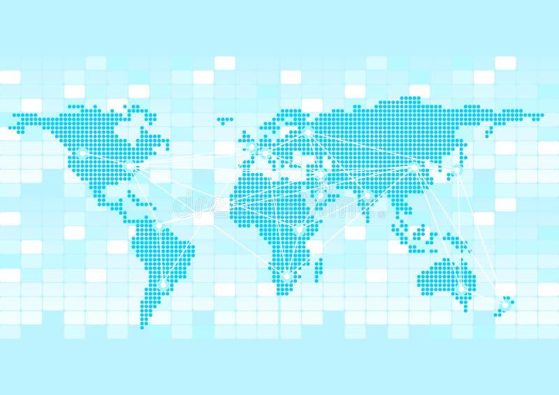 global bakgrundsaffär royaltyfri illustrationer
