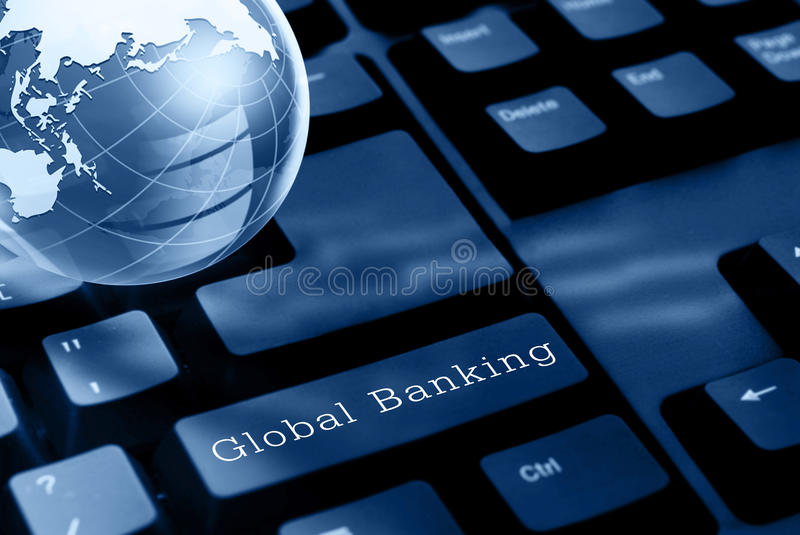 Global banking concept stock images
