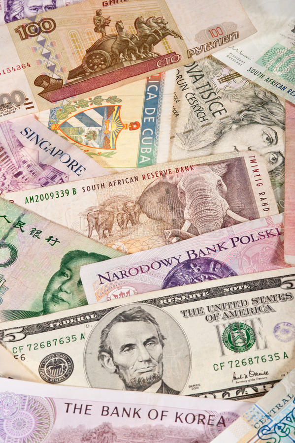 Global Banknotes stock photography