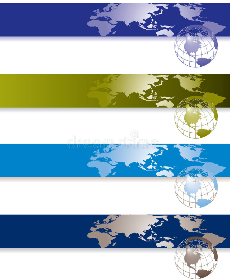 Global banners royalty free illustration