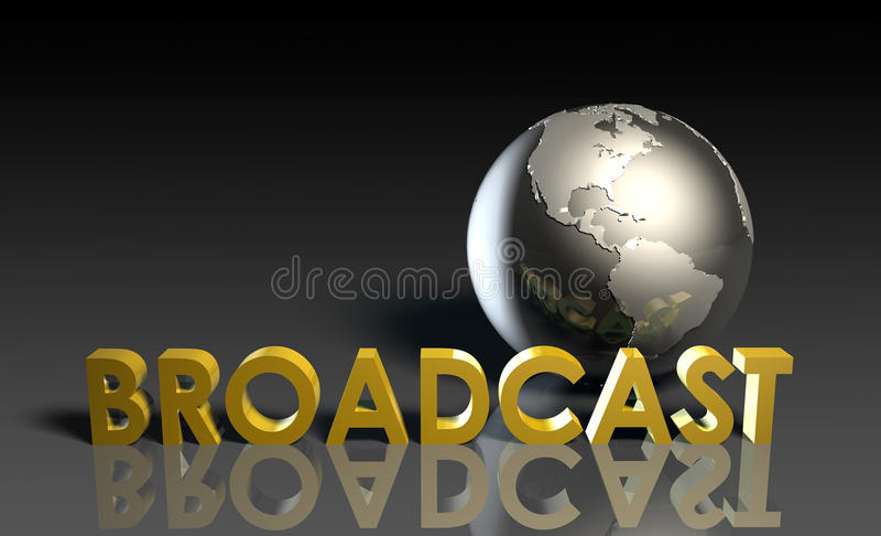 Global Broadcast stock illustration