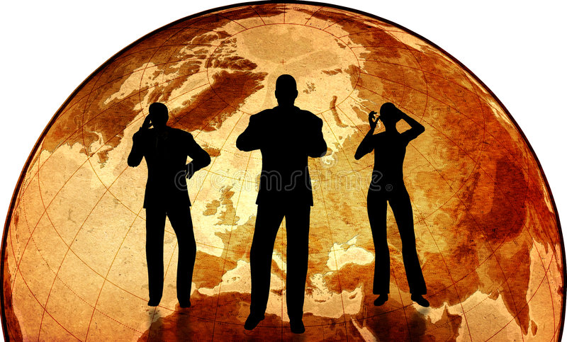Global business royalty free illustration