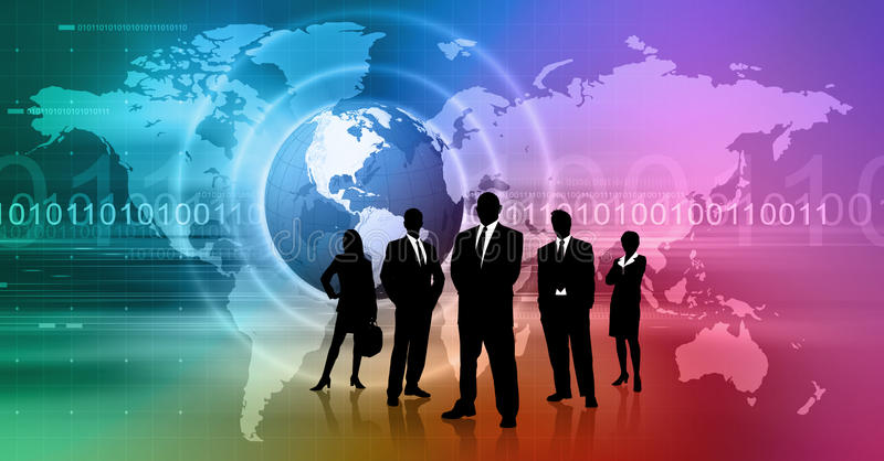 Global Business. Concept Background with Business People royalty free illustration