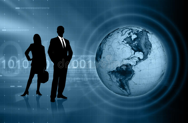 Global Business. Concept Background with Business People stock illustration