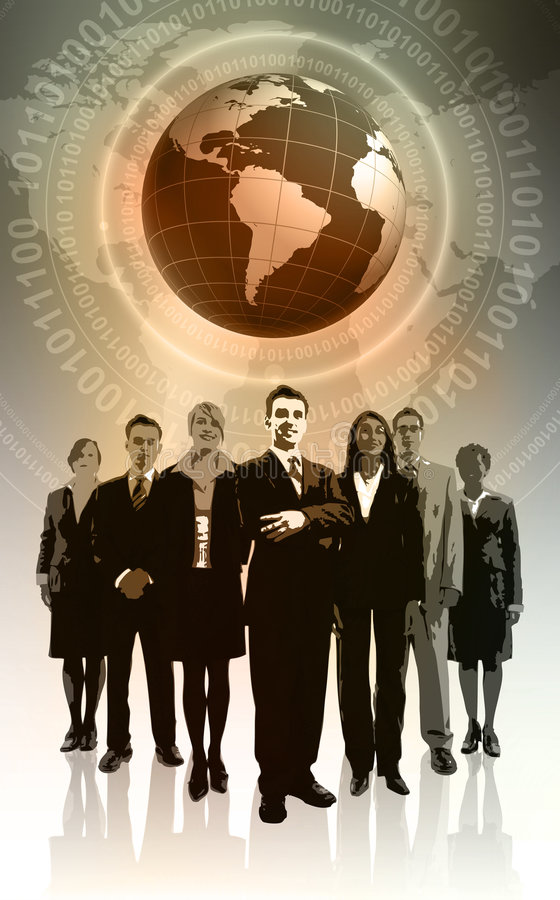 Global Business. Concept Background with Globe stock illustration
