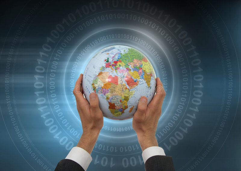 Global Business. Concept Background with Globe royalty free stock photos