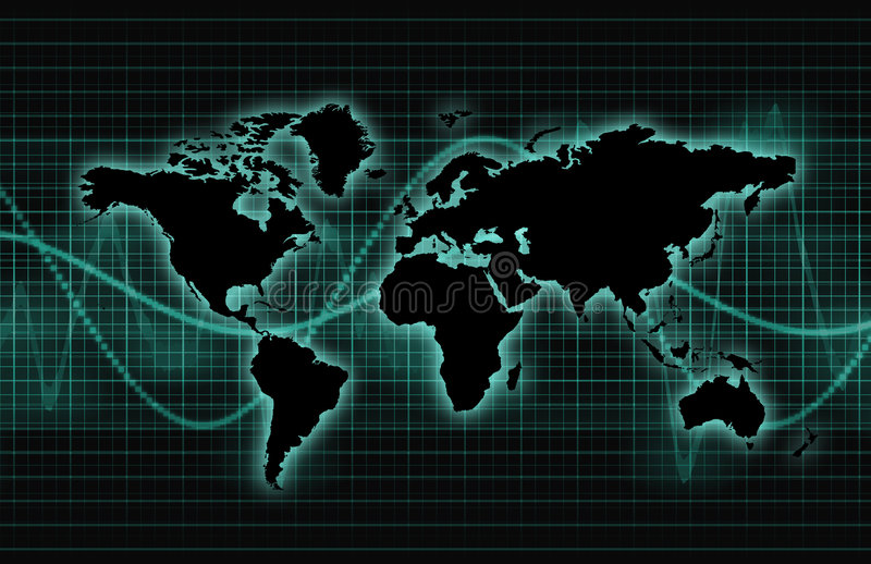 Global Business Abstract Background stock illustration