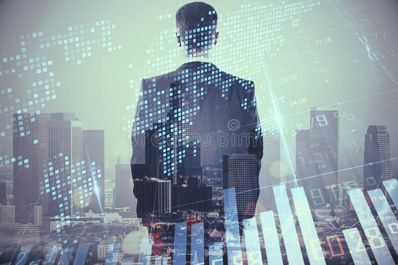 Global business and AI concept stock photos