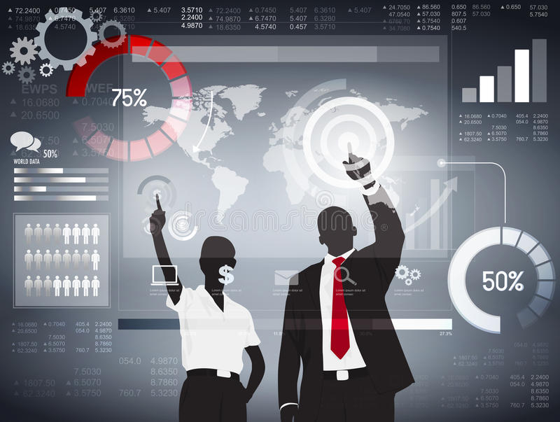 Global Business Analyzing Vector. The vector of global business analyzing royalty free illustration