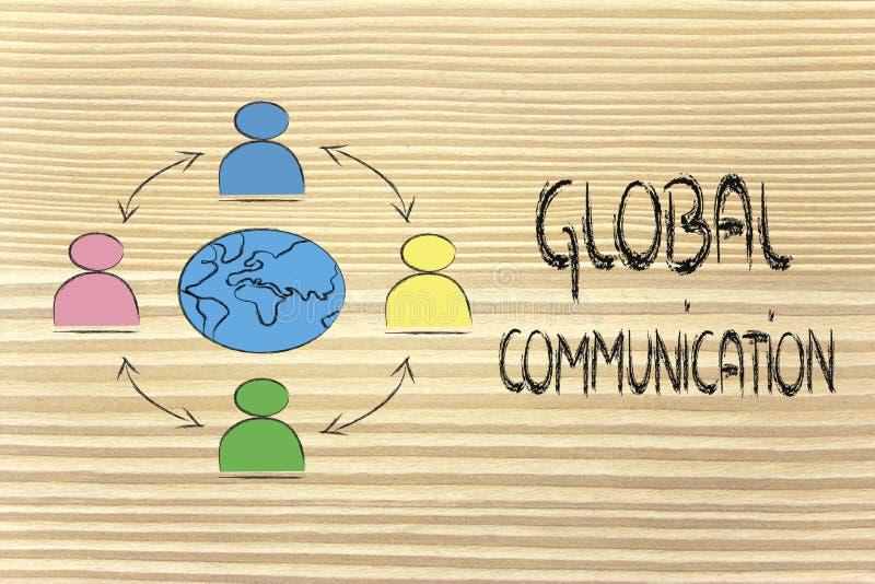 Global business communication royalty free stock photo