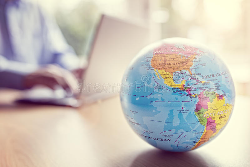 Global business and communications royalty free stock photo
