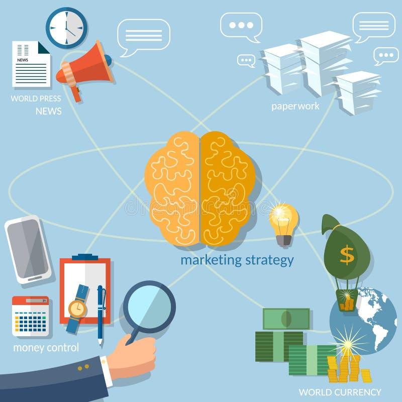 Global business concept startup businessman. Finance online payment management money transaction vector stock illustration