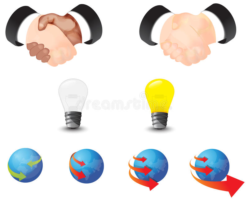 Global business and contraction icon collection se. T, create by vector stock illustration