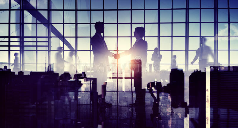 Global Business Cooperation Greeting Handshake.  stock images