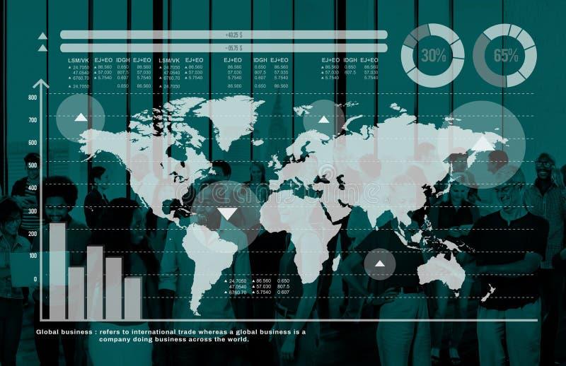 Global Business Graph Growth Finance Stock Market Concept.  stock photos