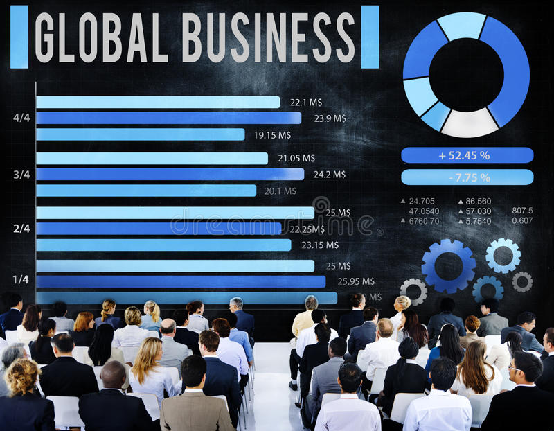 Global Business Growth Corporate Development Concept stock images
