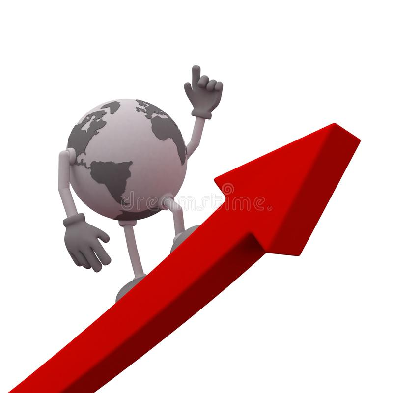 Global business growth stock illustration