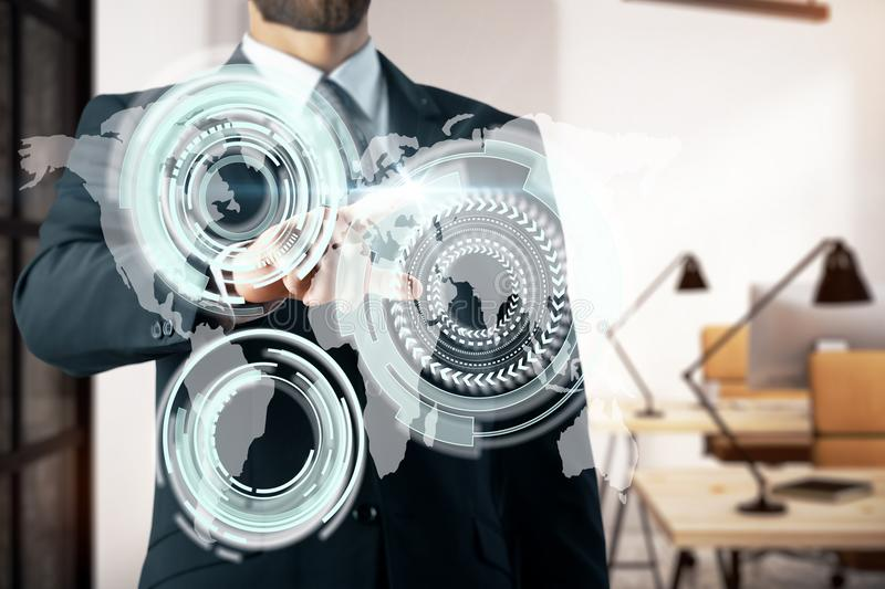 Global business and innovation concept stock image